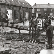1966 Bouw flat Churchilweg Wageningen