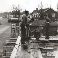1966 Uitzicht op de Geertjesweg met spoorlijn Wageningen
