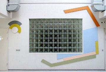 25 WA192-2 Wandreliëf Haken en Cirkels Haarweg 10 Uit Wag Kunstschatten WUR 2009 Kunsten