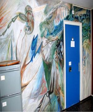 WA119-2 Wandschildering Insecten voormalig Binnenhaven 7-9 Entomologie Leo Schatz Uit Wag Kunstsc